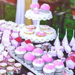 desserts served at baby shower event
